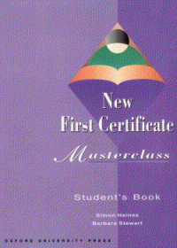 NEW FIRST CERTIFICATE MASTERCLASS SB